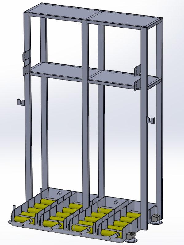 Mesas cuádruples con soporte cargador