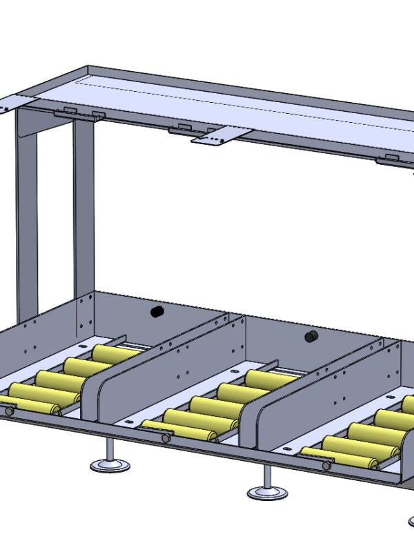 Mesas triples con soporte cargador
